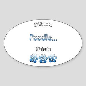 Poodle Not Oval Sticker
