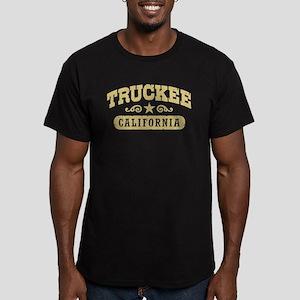 Truckee CA Men's Fitted T-Shirt (dark)