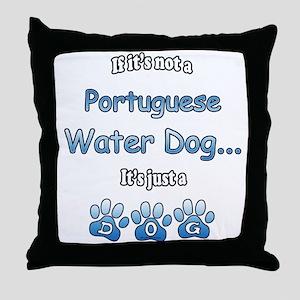 Water Dog Not Throw Pillow