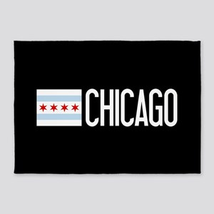 Chicago: Chicagoan Flag & Chicago 5'x7'Area Rug