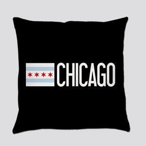 Chicago: Chicagoan Flag & Chicago Everyday Pillow