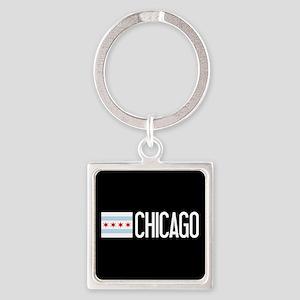 Chicago: Chicagoan Flag & Chicago Square Keychain