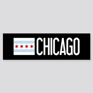 Chicago: Chicagoan Flag & Chicago Sticker (Bumper)