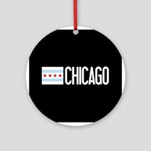 Chicago: Chicagoan Flag & Chicago Round Ornament
