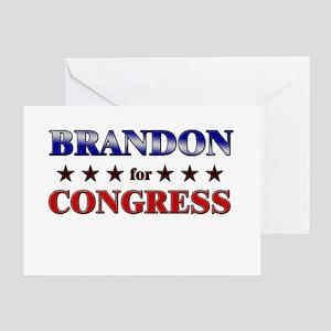 BRANDON for congress Greeting Card