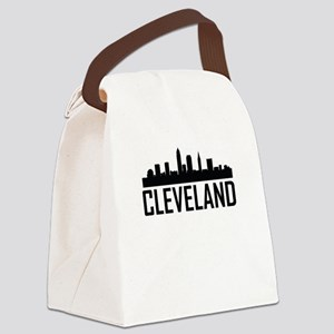 Skyline of Cleveland OH Canvas Lunch Bag