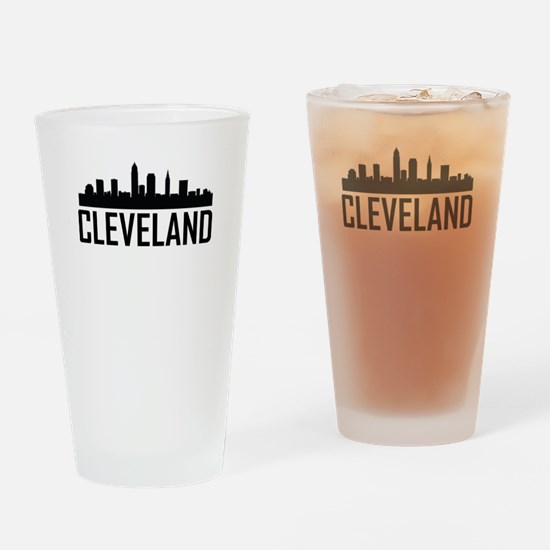 Skyline of Cleveland OH Drinking Glass