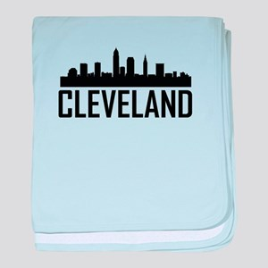 Skyline of Cleveland OH baby blanket