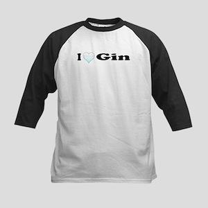 I Love Gin Kids Baseball Jersey
