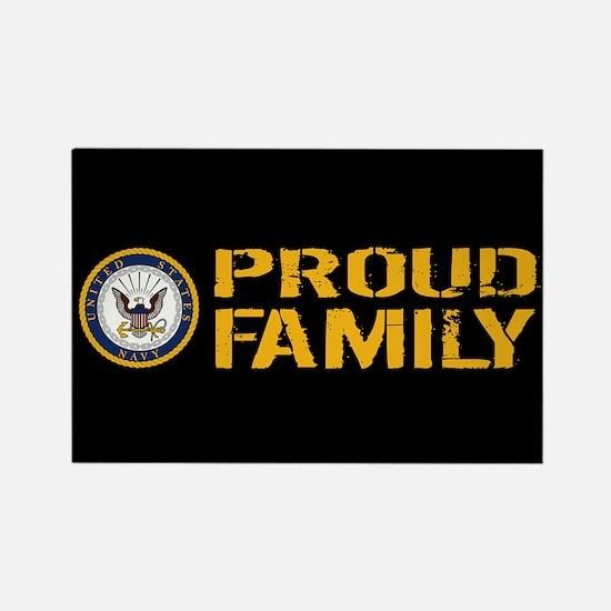 U.S. Navy: Proud Family (Black) Rectangle Magnet