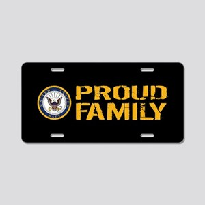 U.S. Navy: Proud Family (Bl Aluminum License Plate