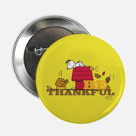 "Peanuts - Be Thankful Full Bleed 2.25"" Button"