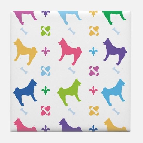 Akita Designer Tile Coaster