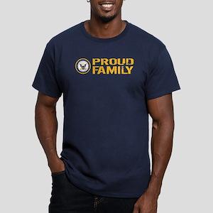U.S. Navy: Proud Famil Men's Fitted T-Shirt (dark)