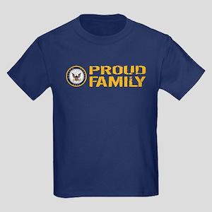 U.S. Navy: Proud Family Kids Dark T-Shirt
