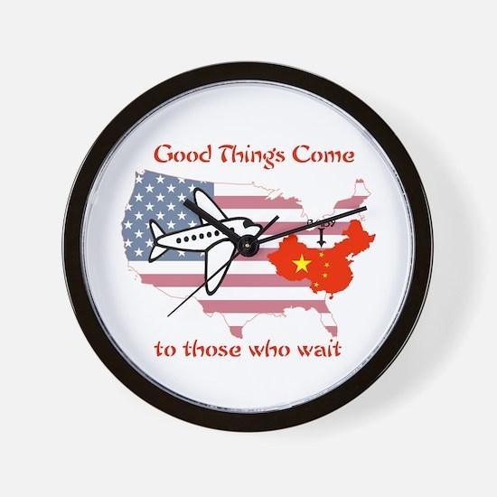 Cute Chinese adoption Wall Clock