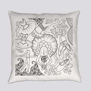 Ballet Collage Everyday Pillow