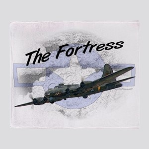Fortress Aircraft Throw Blanket