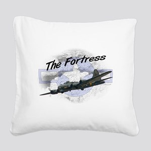Fortress Aircraft Square Canvas Pillow