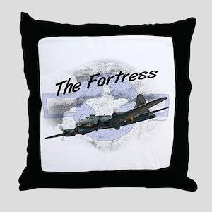 Fortress Aircraft Throw Pillow