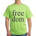 282b. free dom Green T-Shirt