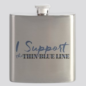 Support the Thin Blue Line Flask