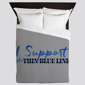 Support the Thin Blue Line Queen Duvet