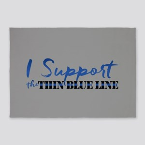 Support the Thin Blue Line 5'x7'Area Rug