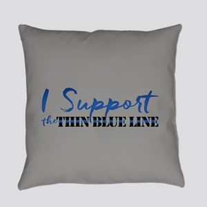 Support the Thin Blue Line Everyday Pillow
