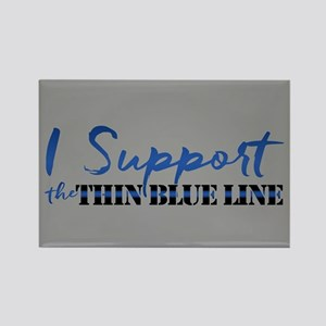 Support the Thin Blue Line Rectangle Magnet