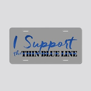Support the Thin Blue Line Aluminum License Plate