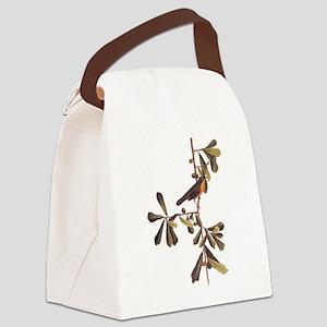 Roscoe's Yellowthroat Warbler Bir Canvas Lunch Bag