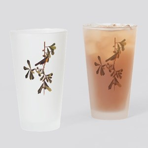 Roscoe's Yellowthroat Warbler Bird Drinking Glass