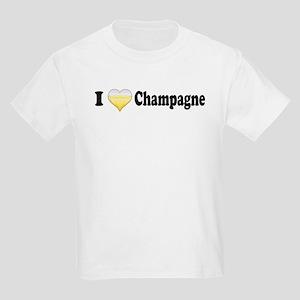 I Love Champagne Kids Light T-Shirt
