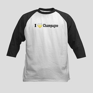 I Love Champagne Kids Baseball Jersey