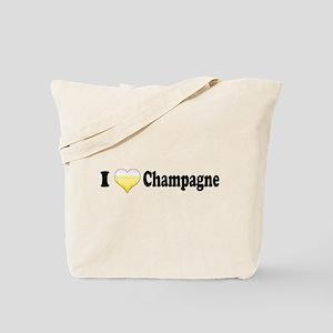 I Love Champagne Tote Bag