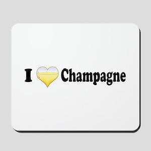 I Love Champagne Mousepad