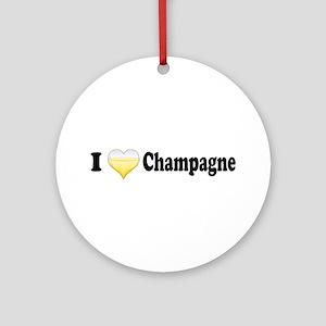 I Love Champagne Ornament (Round)