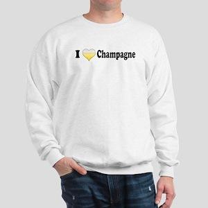 I Love Champagne Sweatshirt