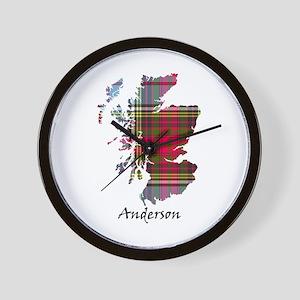 Map - Anderson Wall Clock
