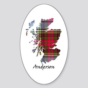 Map - Anderson Sticker (Oval)