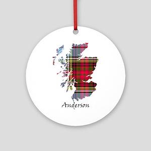 Map - Anderson Round Ornament