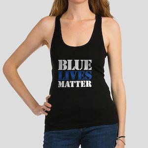 Blue Lives Matter Racerback Tank Top