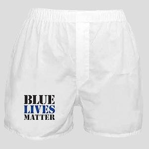 Blue Lives Matter Boxer Shorts