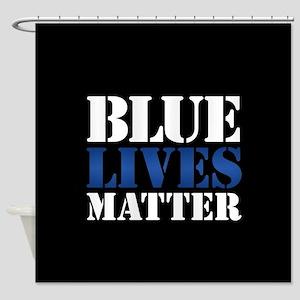 Blue Lives Matter Shower Curtain
