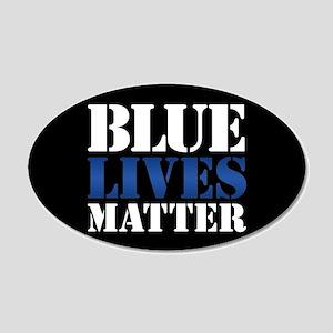 Blue Lives Matter 20x12 Oval Wall Decal