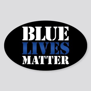 Blue Lives Matter Sticker (Oval)