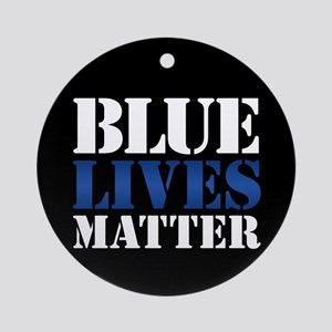 Blue Lives Matter Round Ornament