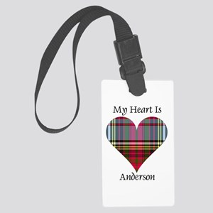 Heart - Anderson Large Luggage Tag