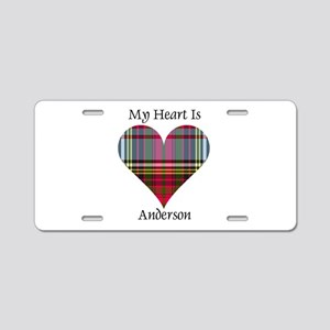 Heart - Anderson Aluminum License Plate